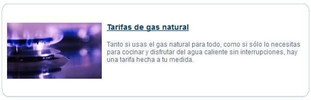Tarifas de gas natural - Consultoría SEO Fatwire