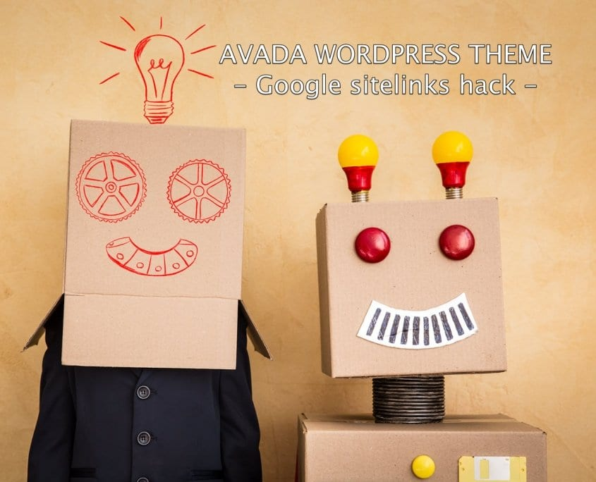 Google sitelinks hack con Avada para Wordpress