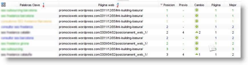 Informes de posicionamiento web y servicios SEO